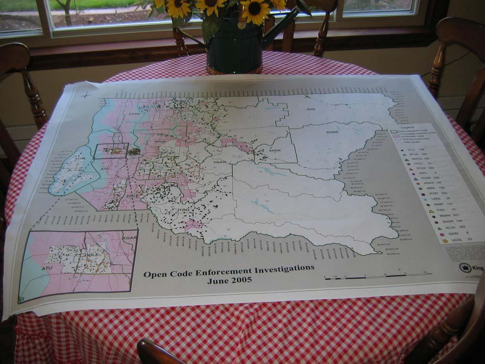 King County Washington State Open Phony Codes on rural property owners