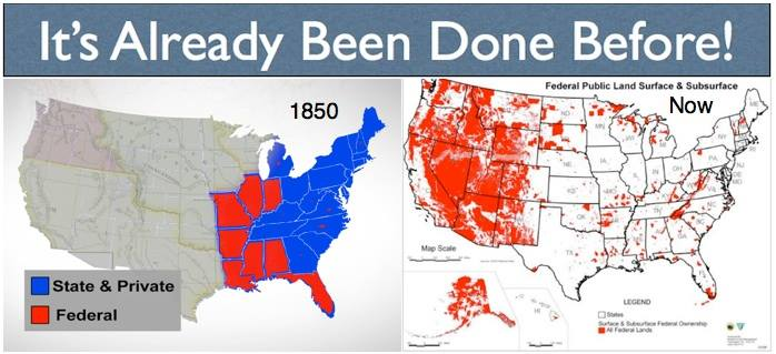 Federal Land 1850 vs. Now