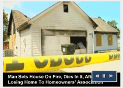 Home Owner Suicide Sets House On Fire