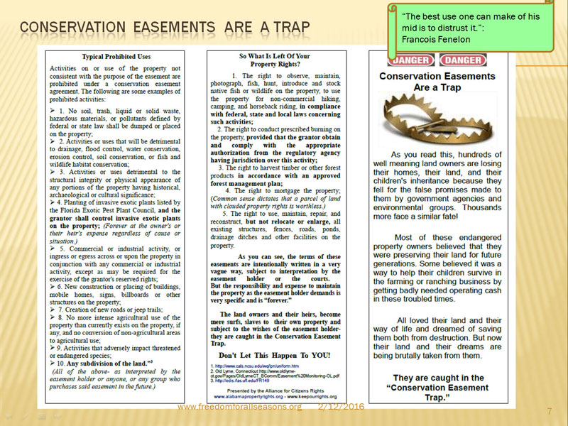 Conservation Easements Are A Trap