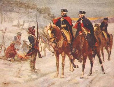 General Washington Riding Valley Forge