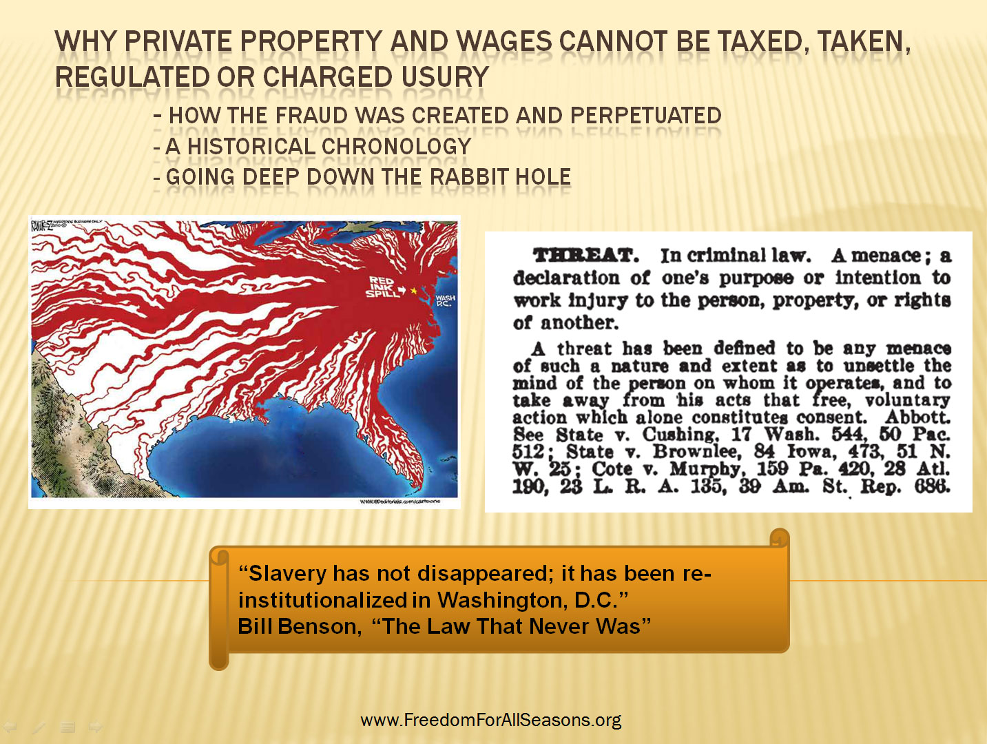 Why Private Property Cannot Be Taxed